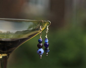 Not Quite the Same Blue Bead Earrings