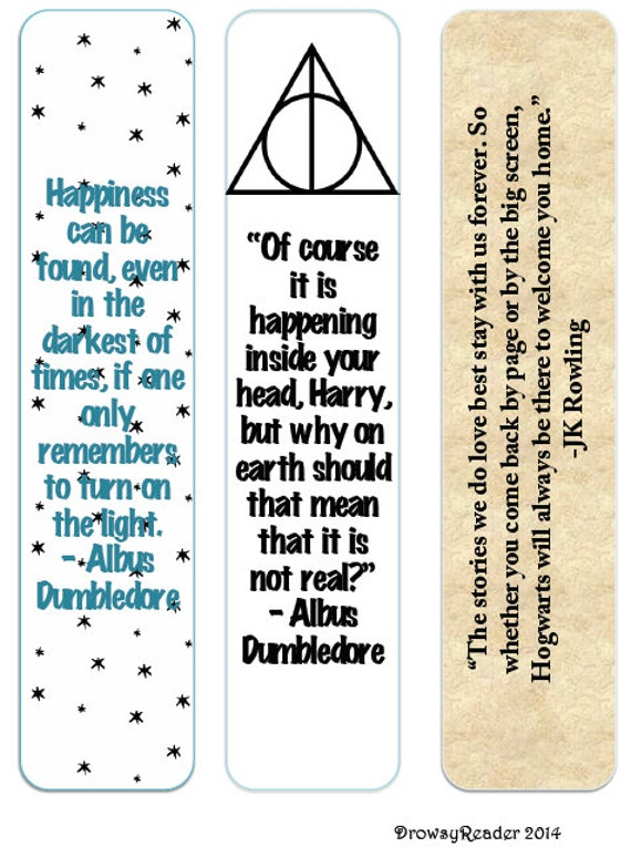 Items Similar To Minimalist Harry Potter Bookmarks