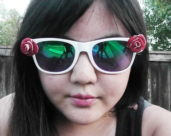 Two-Toned Dual-Toned Rose Glasses and Sunglasses
