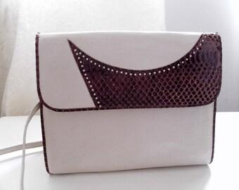 Leather/Snakeskin Bag