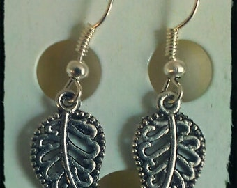 Earthy Tiebetan Style Earings: Leaf earrings