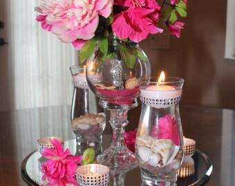 Beach Themed  Floral Bouquet Centerpiece Set