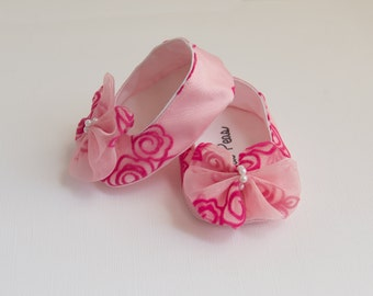 Baby Shoes Baby Girls Shoes Toddler Girls Shoes Soft Sole Shoes Spring Shoes Summer Shoes Pink Shoes Pink Shoes With BowBaby Shoes