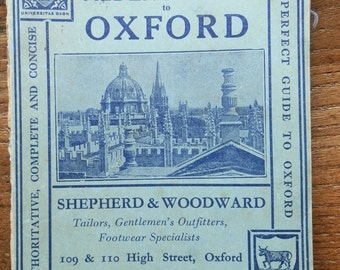 Vintage Paperback: Alden's Guide to Oxford, 1946