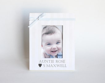 Nephew Picture Frame Personalized Aunt - Gift to Niece Birthday Newborn Nursery Decor Baby Shower - 4 Sizes and many Colors and Styles
