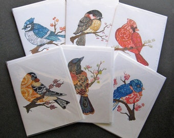 Any 6 Watercolor Print Greeting Cards