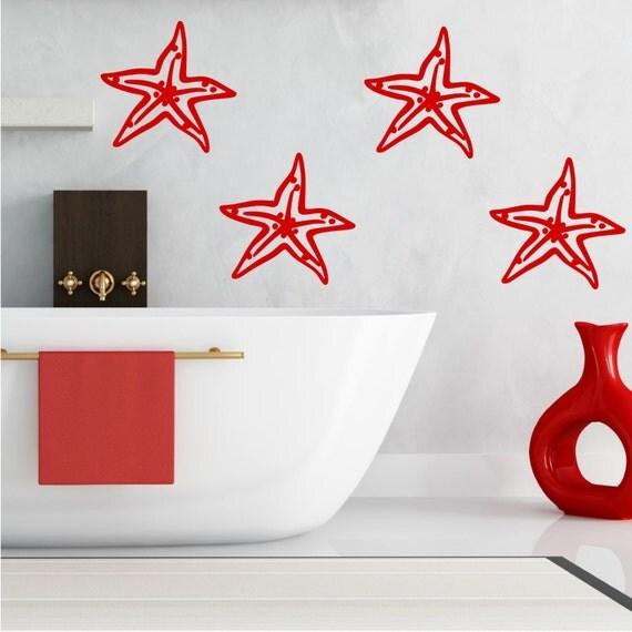 4 stelle marine lusso wall sticker bagno trasferimento stencil for Stencil per piastrelle bagno