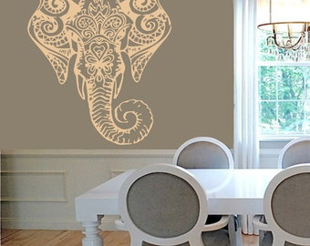 sticker elephant tribal car decal indian elephant elephant wall sticker decorated vinyl ganesh