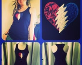 CuSTOM Steal Your Heart - Stole My Heart... Grateful Dead NWT - Tank-ToP Handmade -4- Colors to Choose FREE ShipUpgrade in USA