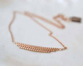 S t e l l a .Vermeil or silver necklece. silver and rose gold