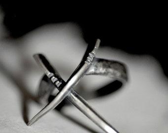 DWO: Scythe ring, sterling silver - statement ring - Joanna Szkiela x Ovate