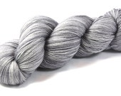 Silver Screen--hand dyed lace weight yarn, BFL and silk, (875yds/100gm)