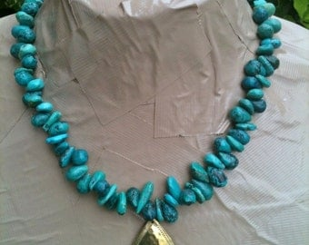 ON SALE DANIELLE turquoise statement necklace