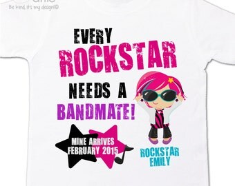 Rockstar big sister shirt bandmate pregnancy announcement Tshirt