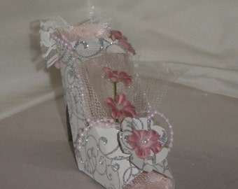 25 Wedding Favors, Paper High Heel Shoe Favors MADE TO ORDER