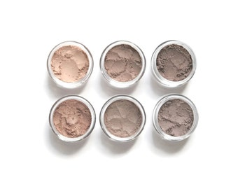 Mineral Eyeshadow Set - Neutral Eye Shadow - Taupe Brown Shades