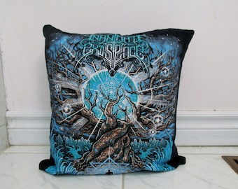 Inanimate Existence Pillow #1 DIY Death Metal Decor (Cover Only)