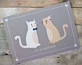 Purr-fect Couple Cat Wedding, Engagement, Anniversary Card