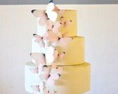 Edible Butterflies Assorted Pastel Pink or Blue-  set of 15 - Cake & Cupcake Toppers - Food Decoration Wedding Cake Decoration