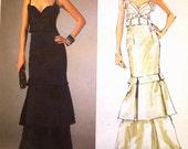 vogue american designer pattern 2963 ~ badgley mischka gown ~ (2007) ~ UNCUT