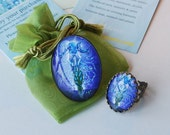Goddess Ring - Wiccan RIng - Moon Ring - Goddess Art - Wearable Art - Goddess Charm Ring