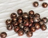 4+ Mykonos Greek Ceramic Raku Round Beads - 8mm -  Sea and Moss Glaze rounds Summer Jewelry Sewing supplies DIY / Pick your quantity
