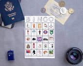 London Travel Bingo - PRINTABLE - Travel Accessory, England Adventure, Traveller Gift, Game for Adults