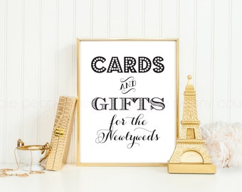 Printable Wedding Card and Gifts Table Cards Sign INSTANT DOWNLOAD 8x10 DIY pdf