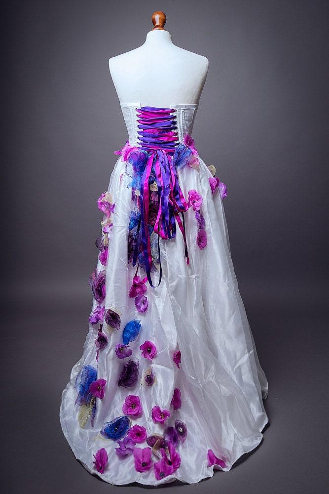 Sale item unique wedding dress prom alternative corset for Unusual wedding dresses for sale