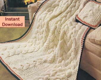 Afghan Knitting Patterns Cable Aran and lots by PaperButtercup