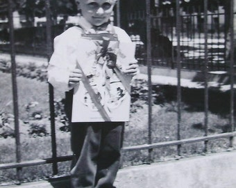 Vintage Photograph - Boy with a Book