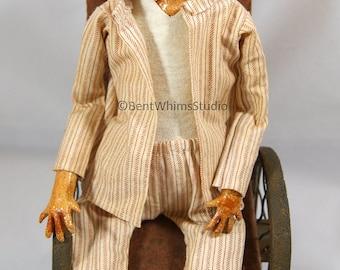 Strangely Odd Creepy Art Doll - Walter