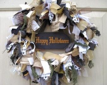 Happy Halloween Wreath, Trick or Treat, Spooky Halloween Home Decor, Halloween Party Decor, Creepy Halloween Decor, Wreath for Halloween