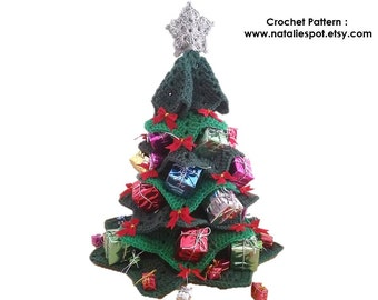 "INSTANT DOWNLOAD Centerpiece Christmas Tree - Crochet Pattern 18"" high"