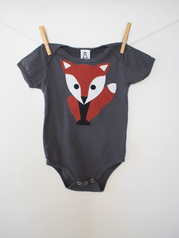 Baby Bodysuit / Unisex Baby Onesie / Fox Onepiece