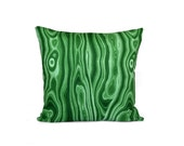 Lumbar Emerald Green Pillow Cover. Malachite Cushion. Cotton Throw Pillow.