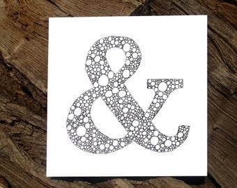Ampersand Circles Card