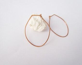 Oval Hoop Earrings. Geometric Wire Earrings. Hammered Copper Thin Hoop. Minimal Everyday Earrings. Boho Gypsy Hoop Earrings. Copper Jewelry