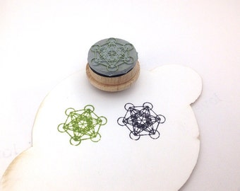 Metatron's Cube Rubber Stamp SM