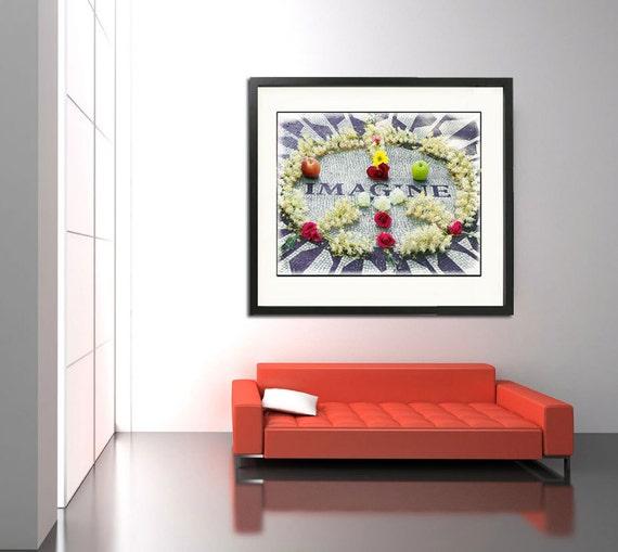 Beatles Art, Beatles Photography,  Imagine Photo, Strawberry Fields New York, Beatles Wall Art, John Lennon