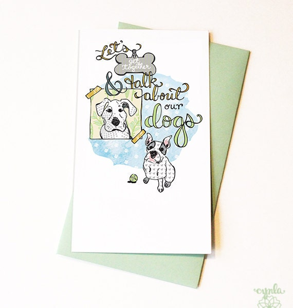 Dog Flat Notes Set of 8 - Casual invites