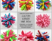 CUSTOM Korker Hair Bow - Create Your Own Bow - Custom Hair Bow - Korker Hair Bow - Choose Your Colors - Birthday - Holiday - Special Event