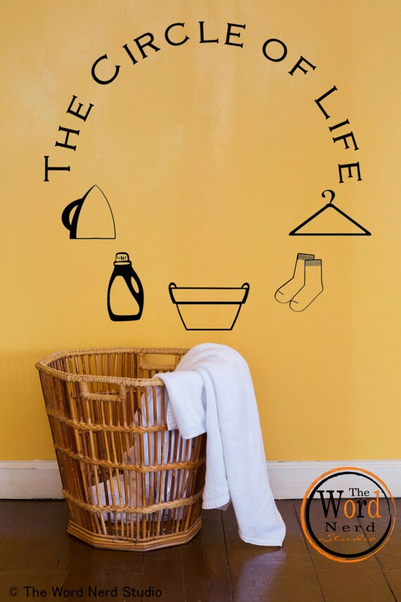 Laundry Room Decal Appliance Decal Circle Of Life Vinyl