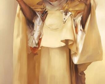 Tarsier Fumée d'ambre Gris - concept art fine art print MIDSIZE