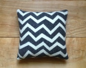 Contemporary Zig Zag Charcoal Gray Pillow - Camp Blanket Wool