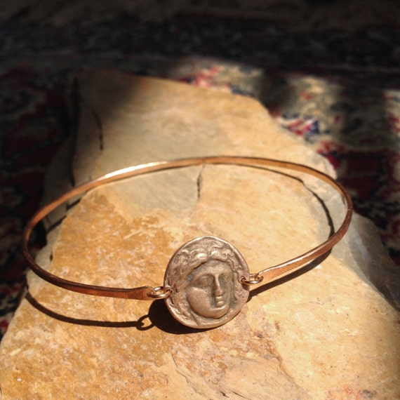 Athena Charmed Bangle in Bronze