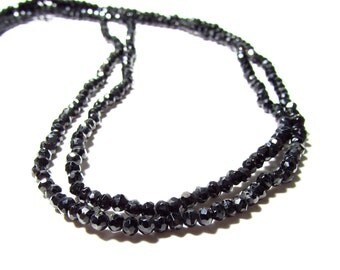 Black Pyrite Faceted Rondelle Beads 3mm
