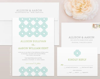 celtic knot irish wedding invitation rsvp set ireland wedding invitation irish wedding invitation - Celtic Wedding Invitations