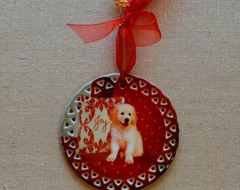 Golden Retriever Puppy Joy Ornament