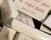 25 Custom Designed Matchbox Wedding Favors